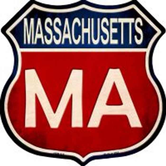 Massachusetts Highway Shield Wholesale Novelty Metal Magnet