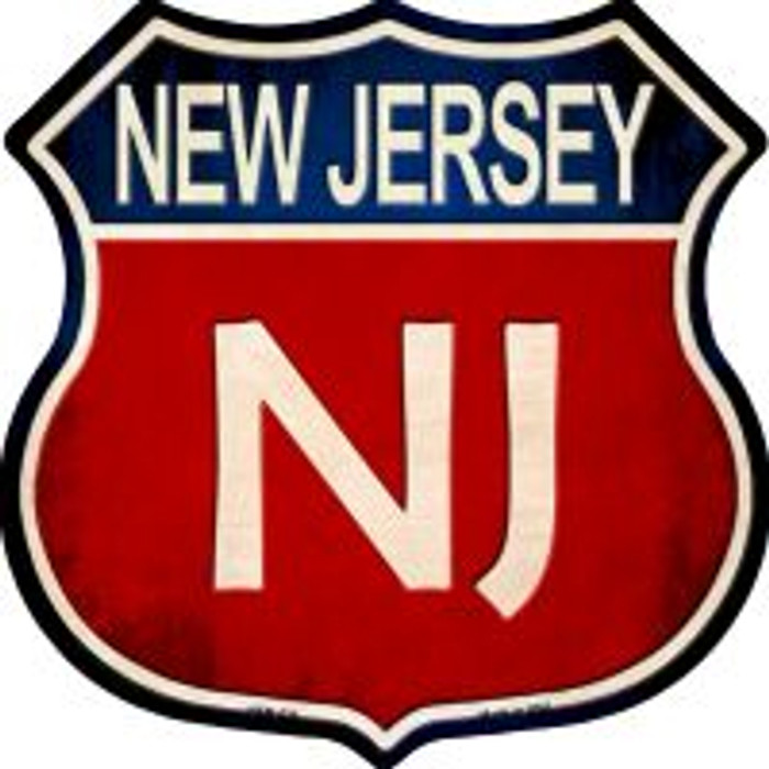 New Jersey Highway Shield Wholesale Novelty Metal Magnet