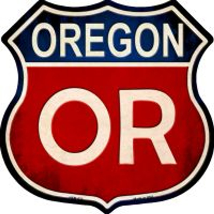 Oregon Highway Shield Novelty Metal Magnet