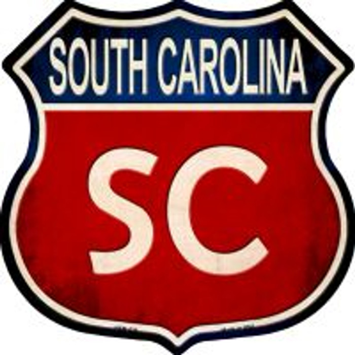South Carolina Highway Shield Novelty Metal Magnet