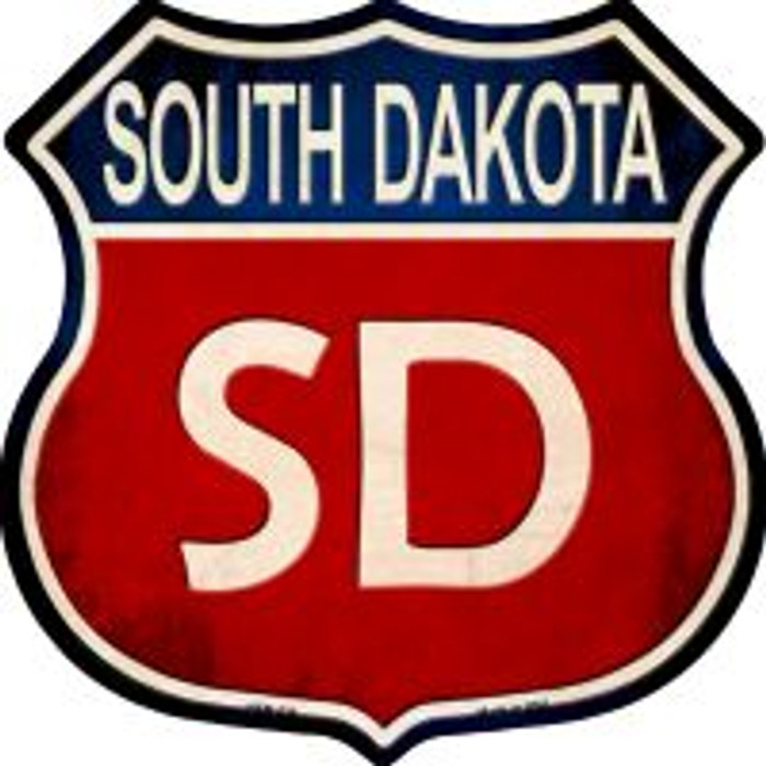 South Dakota Highway Shield Novelty Metal Magnet
