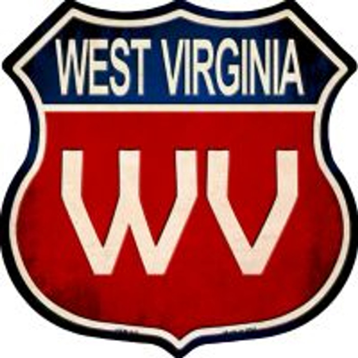 West Virginia Highway Shield Novelty Metal Magnet