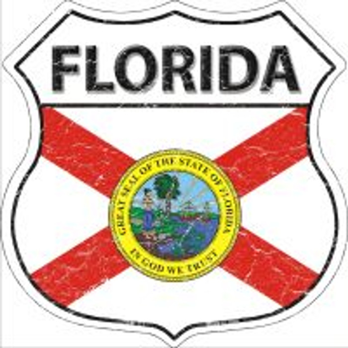 Florida State Flag Highway Shield Novelty Metal Magnet