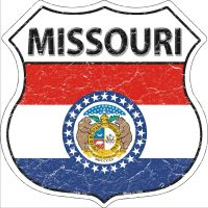 Missouri State Flag Highway Shield Novelty Metal Magnet