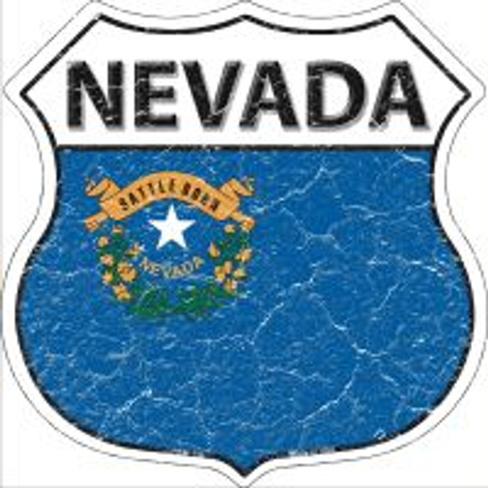Nevada State Flag Highway Shield Novelty Metal Magnet