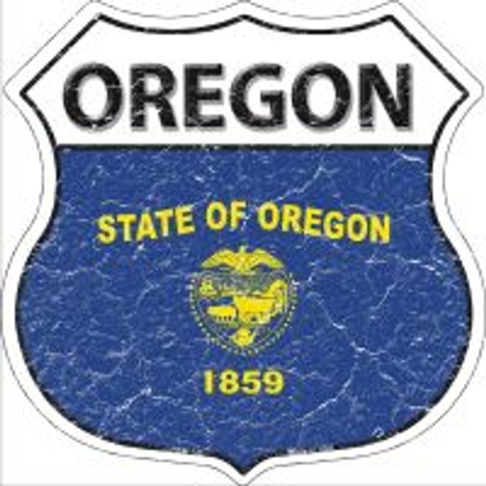 Oregon State Flag Highway Shield Novelty Metal Magnet