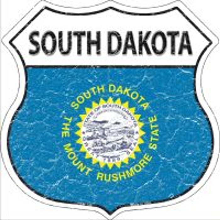 South Dakota State Flag Highway Shield Novelty Metal Magnet