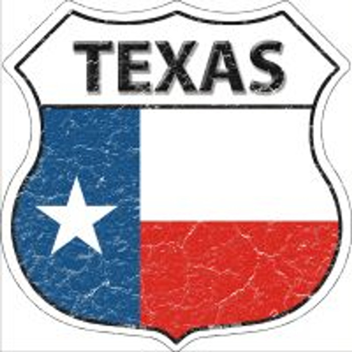 Texas State Flag Highway Shield Novelty Metal Magnet