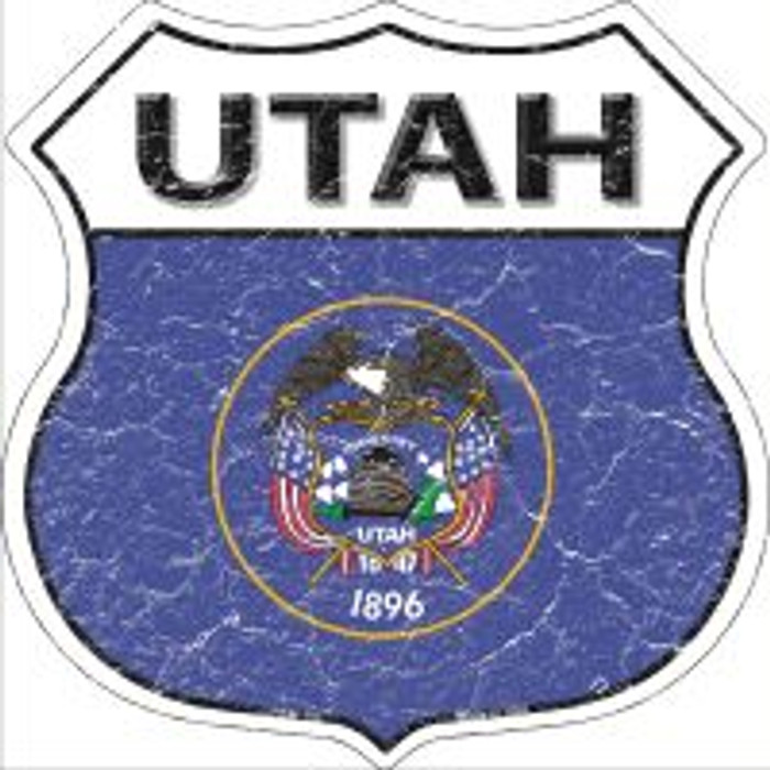 Utah State Flag Highway Shield Novelty Metal Magnet