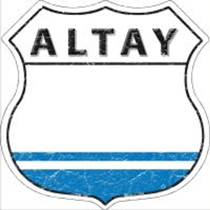 Altay Flag Highway Shield Novelty Metal Magnet