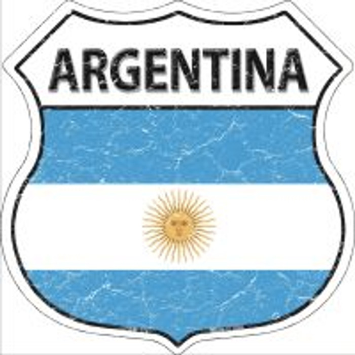 Argentina Flag Highway Shield Novelty Metal Magnet