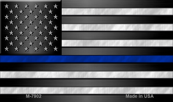 American Flag Thin Blue Line Wholesale Novelty Metal Magnet