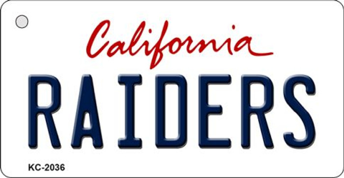 Raiders California State Background Novelty Wholesale Metal Key Chain KC-2036
