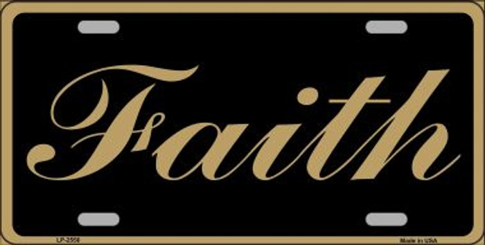 Faith Wholesale Metal Novelty License Plate
