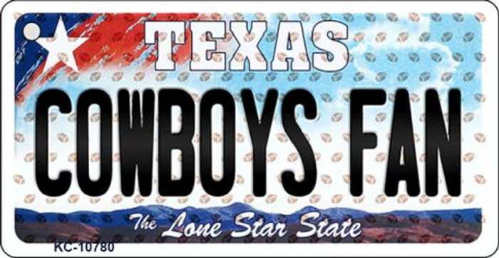 Cowboys Fan Texas Background Novelty Wholesale Metal Key Chain KC-10780
