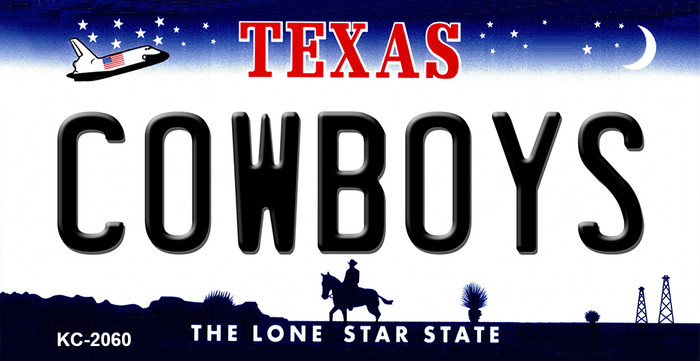 Cowboys Texas State Background Novelty Wholesale Metal Key Chain KC-2060