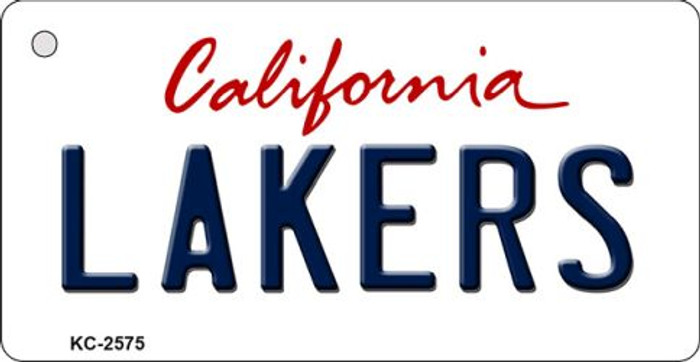Lakers California Novelty State Background Wholesale Metal Key Chain KC-2575