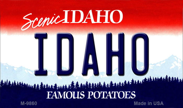 Idaho State Background Wholesale Metal Novelty Magnet