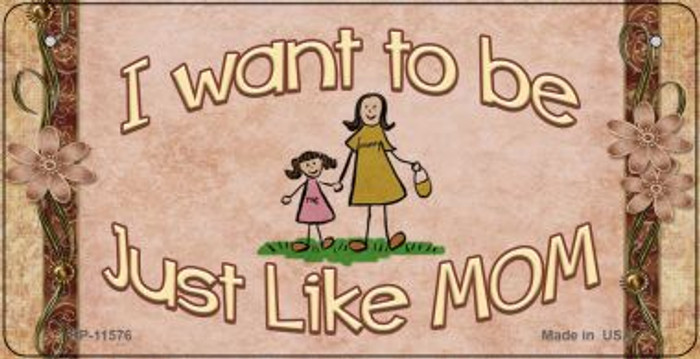 Just Like Mom Novelty Wholesale Metal Bicycle License Plate