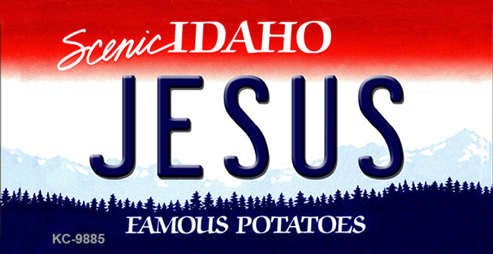 Jesus Idaho State Background Wholesale Metal Novelty Key Chain