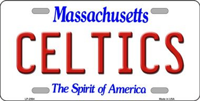Celtics Massachusetts Novelty State Background Wholesale Metal License Plate LP-2564
