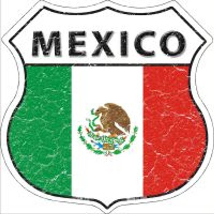 Mexico Flag Highway Shield Novelty Metal Magnet