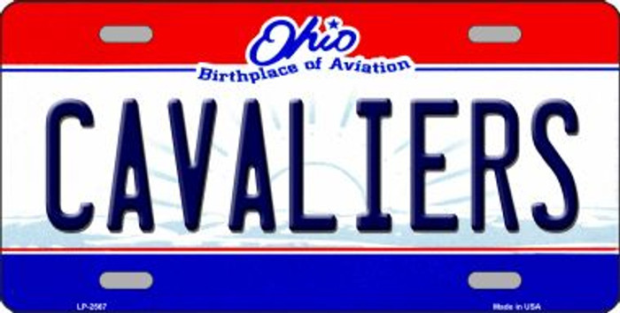 Cavaliers Ohio Novelty State Background Wholesale Metal License Plate LP-2567