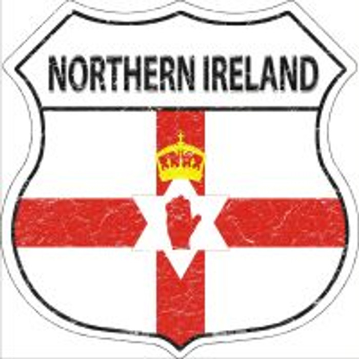Northern Ireland Flag Highway Shield Novelty Metal Magnet