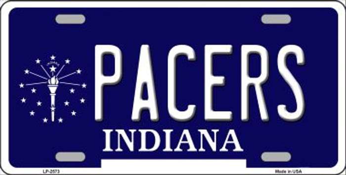 Pacers Indiana Novelty State Background Wholesale Metal License Plate LP-2573