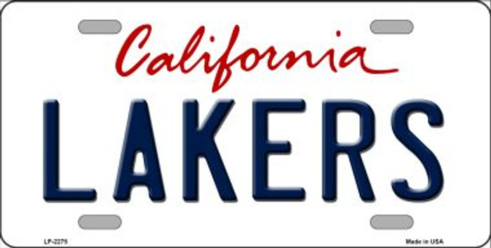 Lakers California Novelty State Background Wholesale Metal License Plate LP-2575