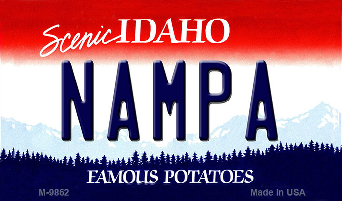 Nampa Idaho State Background Wholesale Metal Novelty Magnet