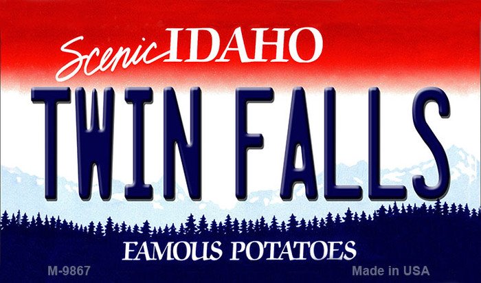 Twin Falls Idaho State Background Wholesale Metal Novelty Magnet