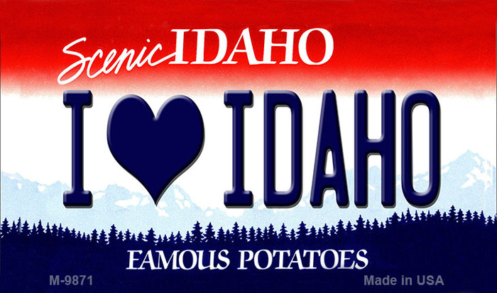 I Love Idaho Idaho State Background Wholesale Metal Novelty Magnet