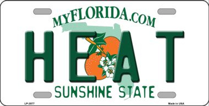 Heat Florida Novelty State Background Wholesale Metal License Plate LP-2577