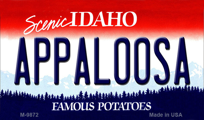 Appaloosa Idaho State Background Wholesale Metal Novelty Magnet