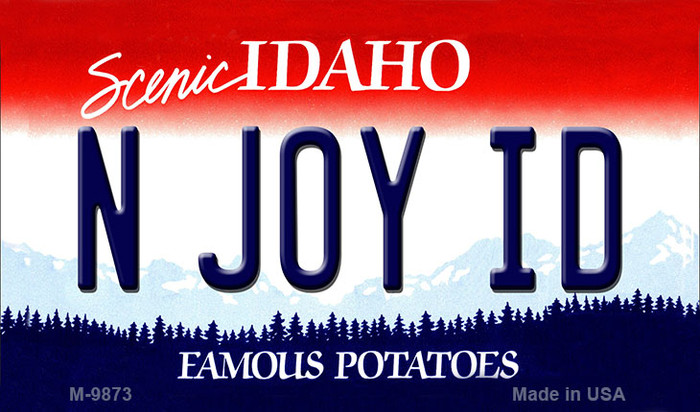 N Joy ID Idaho State Background Wholesale Metal Novelty Magnet
