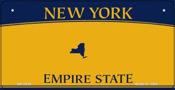 New York State Background Novelty Wholesale Bicycle License Plate
