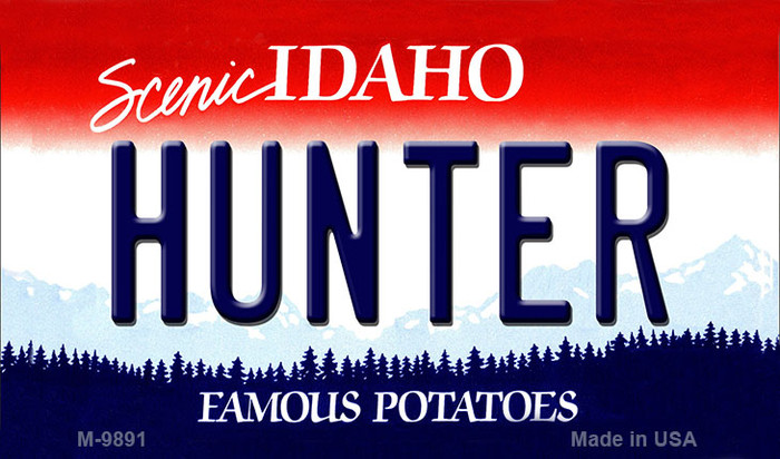 Hunter Idaho State Background Wholesale Metal Novelty Magnet