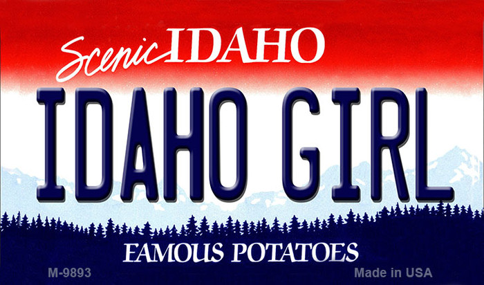 Idaho Girl Idaho State Background Wholesale Metal Novelty Magnet