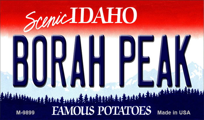 Borah Peak Idaho State Background Wholesale Metal Novelty Magnet