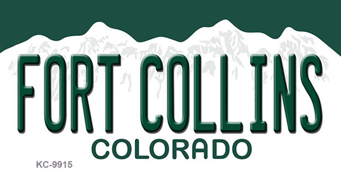 Fort Collins Colorado Background Wholesale Metal Novelty Key Chain