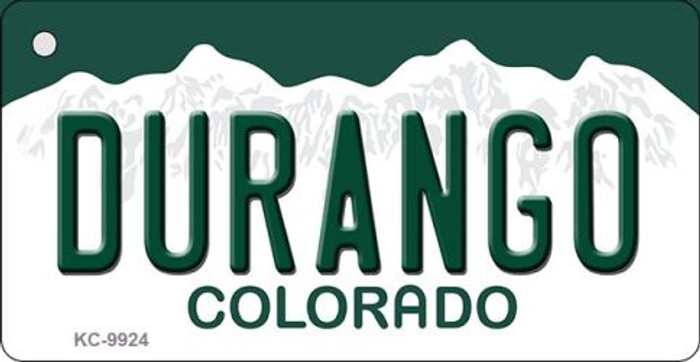 Durango Colorado Background Wholesale Metal Novelty Key Chain KC-9924