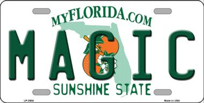Magic Florida Novelty State Background Wholesale Metal License Plate LP-2584