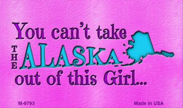 Alaska Girl Novelty Wholesale Metal Magnet M-9793