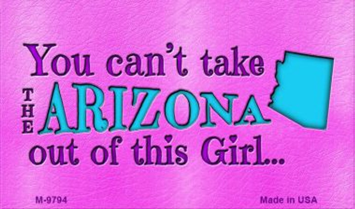 Arizona Girl Novelty Wholesale Metal Magnet M-9794