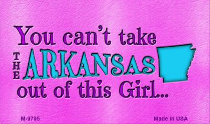 Arkansas Girl Novelty Wholesale Metal Magnet M-9795