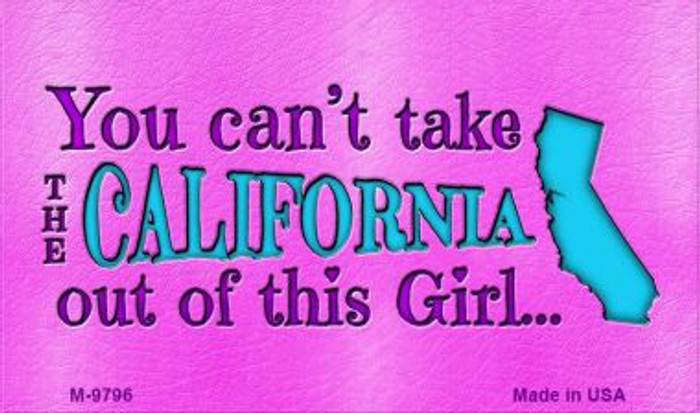 California Girl Novelty Wholesale Metal Magnet M-9796
