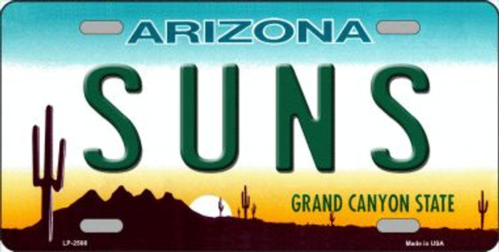 Suns Arizona Novelty State Background Wholesale Metal License Plate LP-2586