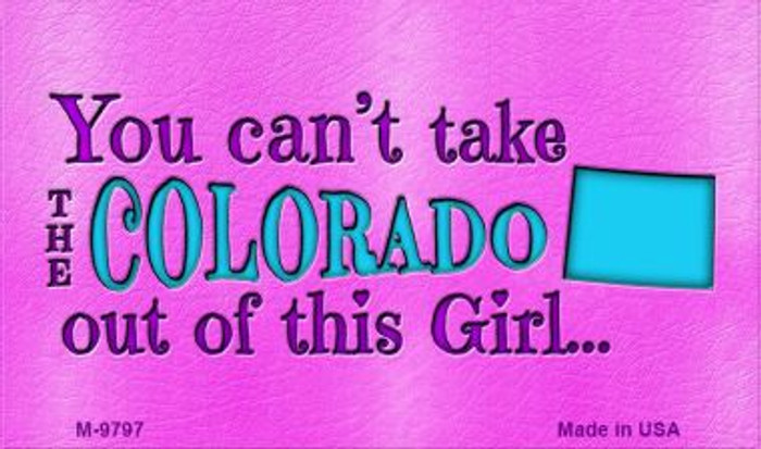 Colorado Girl Novelty Wholesale Metal Magnet M-9797