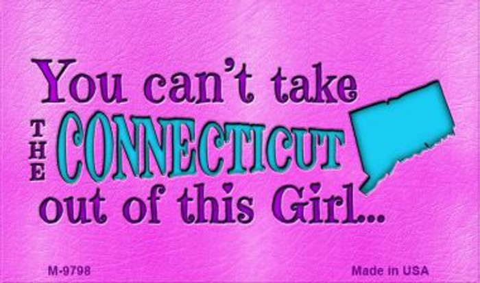 Connecticut Girl Novelty Wholesale Metal Magnet M-9798